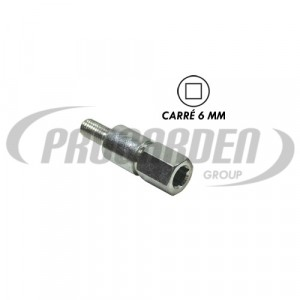 Insert carré 6,0 mm