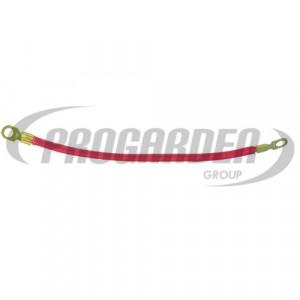 Cable rouge avec cosses (30 cm)