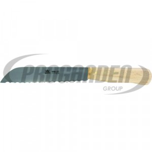 Couteau à chou METALLO 18 cm, acier C60, cranté, bois