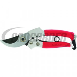 Sécateur METALLO 18 cm rouge (BUDGET)