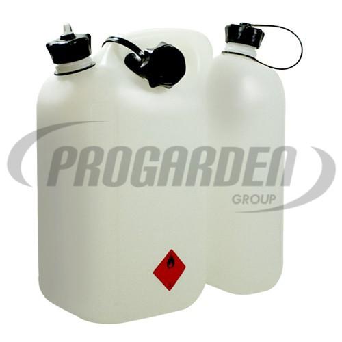 Bidon double usage blanc (5,5 + 3 L)