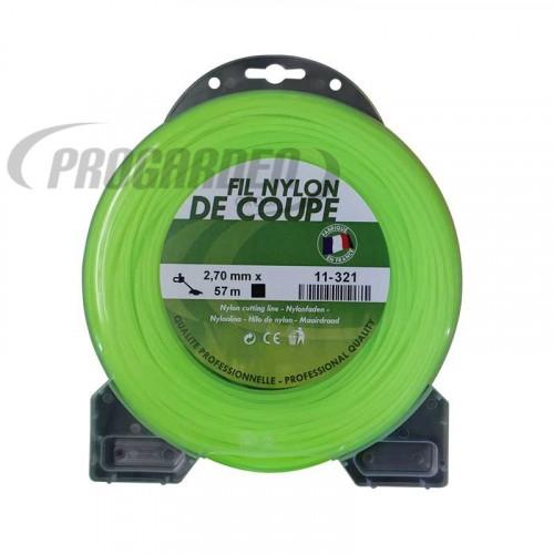 Coque fil nylon carré (1/2 kg) ø : 2,7 mm