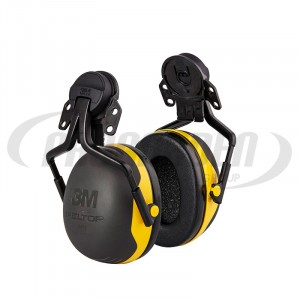 Coquille antibruit 3M Peltor™ X2 jaune avec attaches P5E