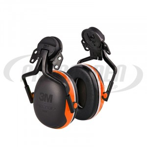 Casque antibruit 3M Peltor™ X4 orange avec attaches P5E